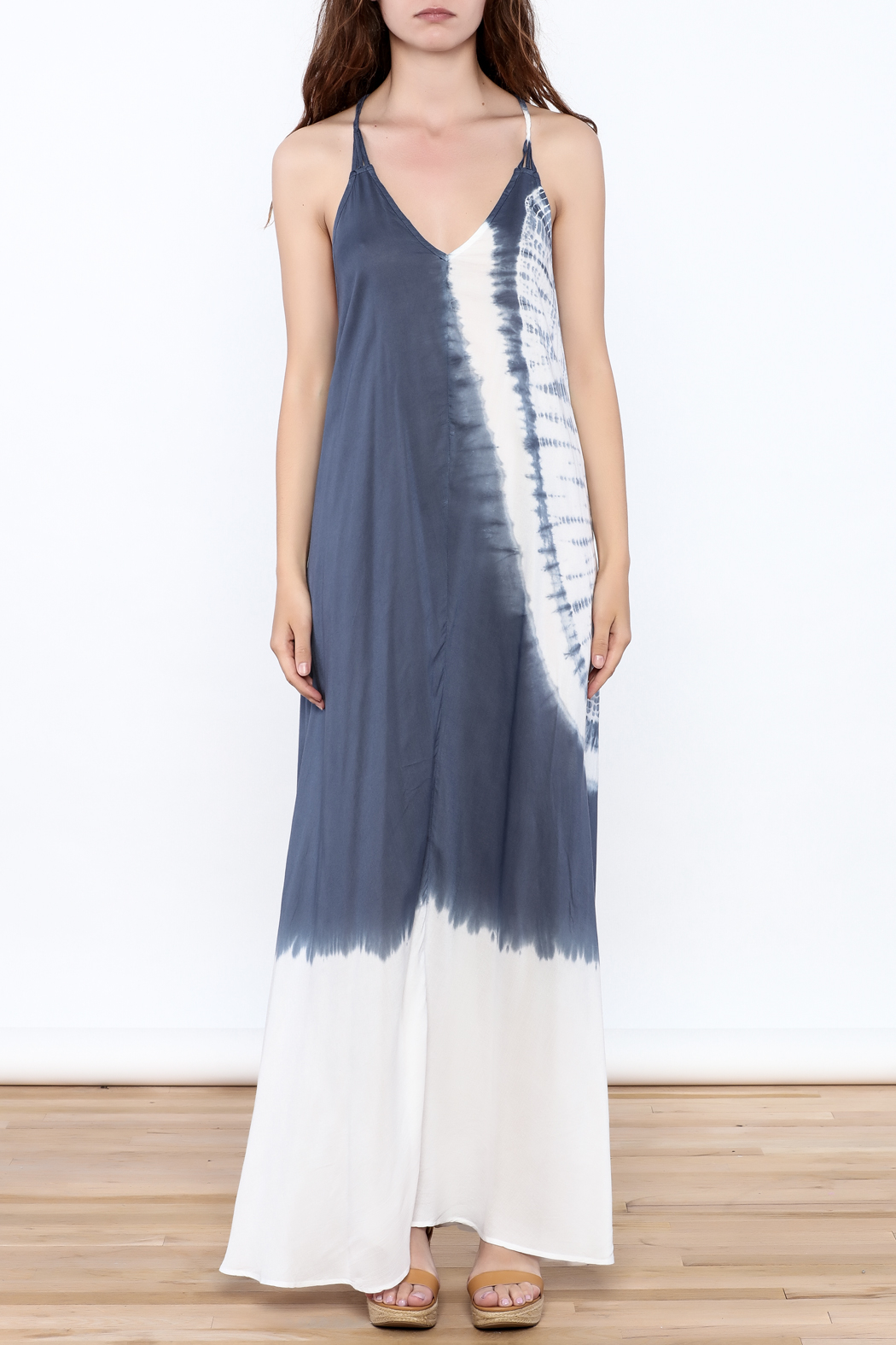 Elan Beaded Maxi Dress - Front Cropped Image