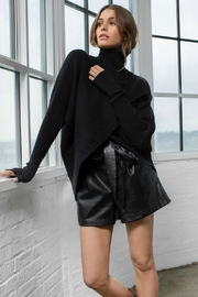 Elan Black Cross Front Sweater - Front cropped