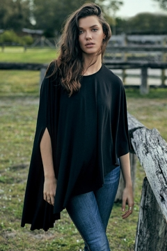 Elan Black High-Low Poncho - Product List Image