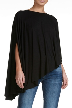 Elan Black High-Low Poncho - Alternate List Image