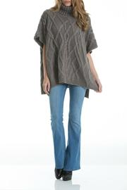 Elan Cableknit Cowl-Neck Poncho - Front cropped