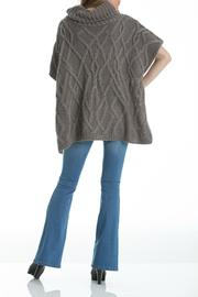 Elan Cableknit Cowl-Neck Poncho - Front full body