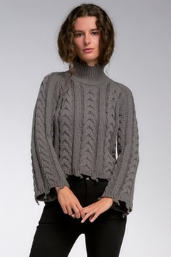 Elan Charcoal Sweater With Bell Sleeve - Alternate List Image