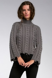Elan Charcoal Sweater With Bell Sleeve - Product Mini Image
