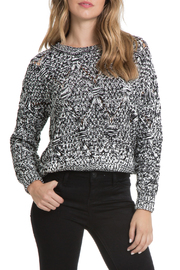 Elan Chunky Cropped Sweater - Front cropped