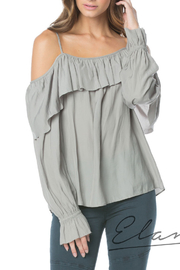 Elan Cold Shoulder Ruffle Top - Product Mini Image