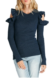 Elan Cold Shoulder Sweater - Product Mini Image