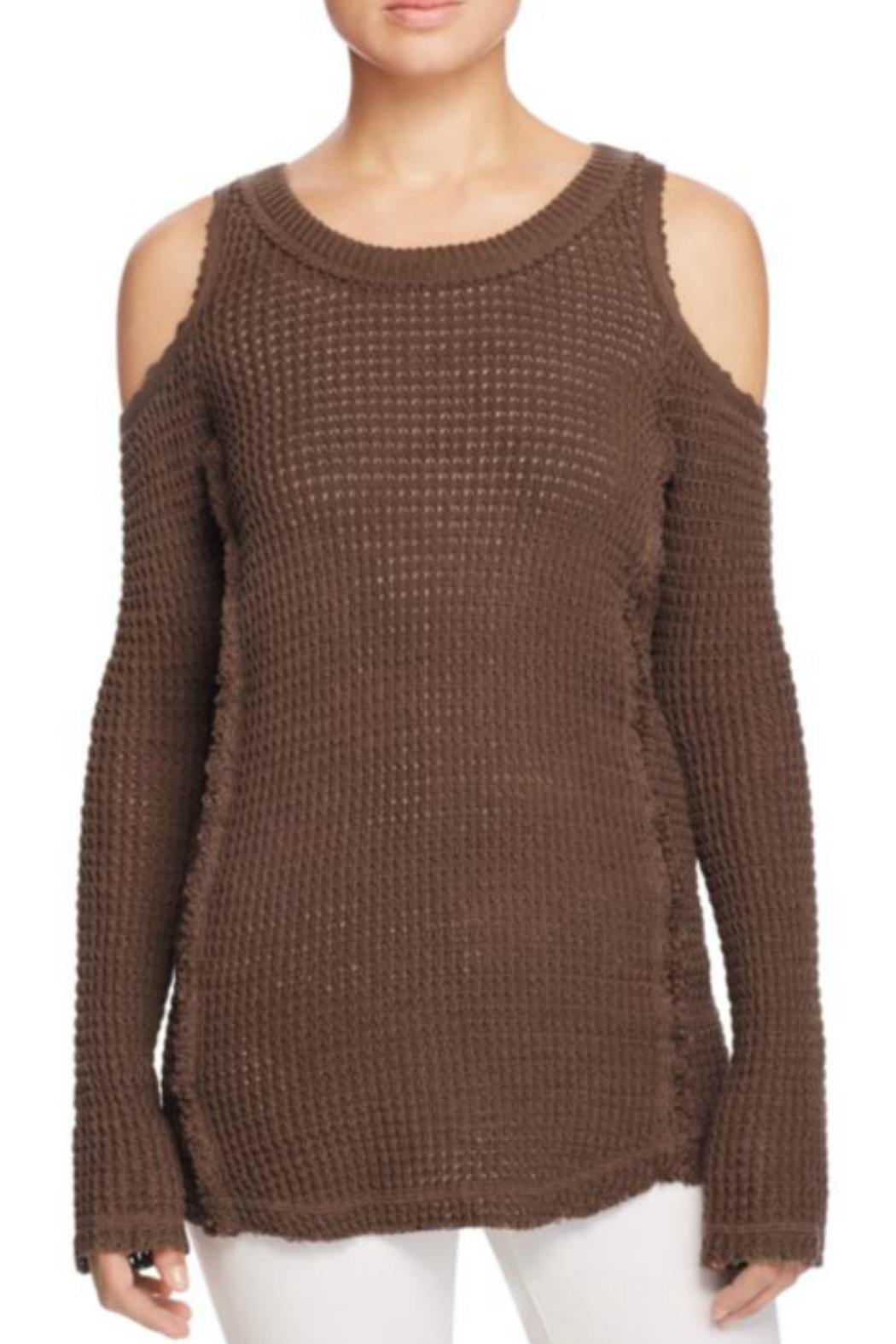 72ad9398f3 Elan Cold Shoulder Sweater from Westhampton Beach by Chic — Shoptiques