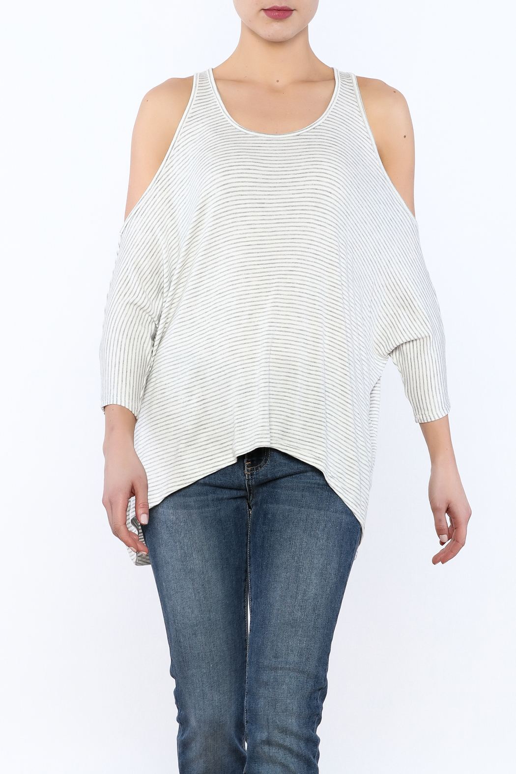 4dc363a1a1182 Elan Cold Shoulder Dolman Sleeve Top from Montauk by Kailani ...