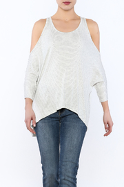 Elan Cold Shoulder Dolman Sleeve Top - Product Mini Image