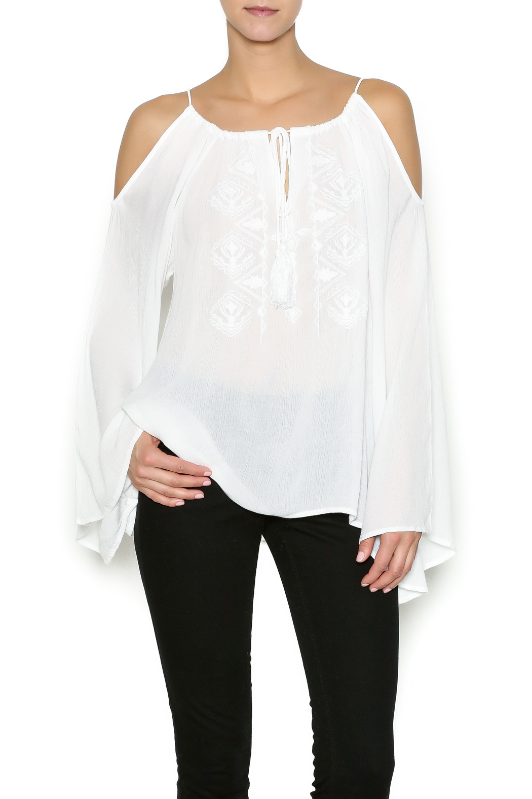 9db969ae80adc Elan Cold Shoulder Top from New York City by Dor L Dor Resort ...