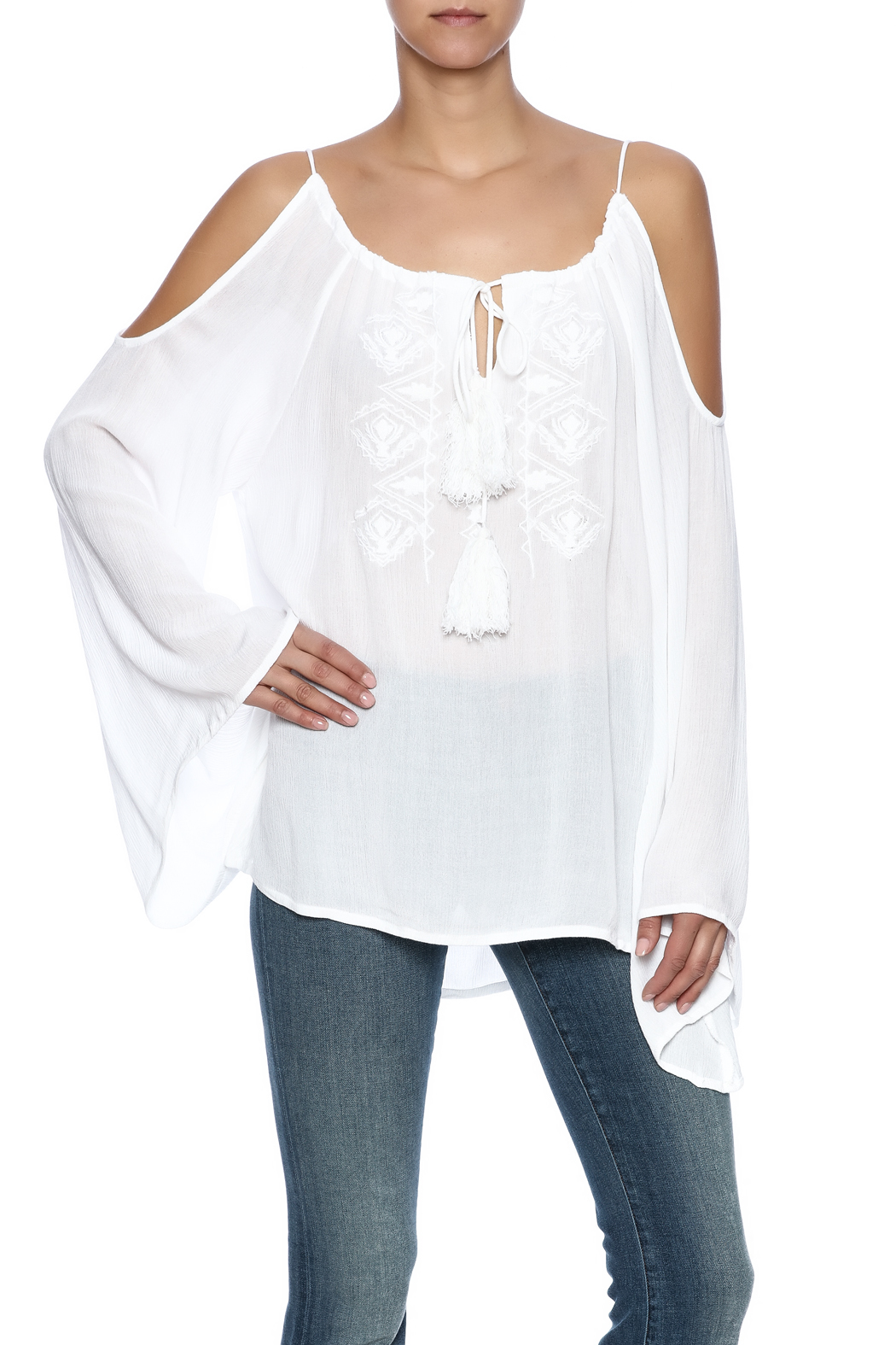 b6e9a1155264d Elan Cold Shoulder Top from Long Island by Kate   Hale — Shoptiques