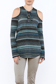 Elan Waffled Knit Top - Product Mini Image