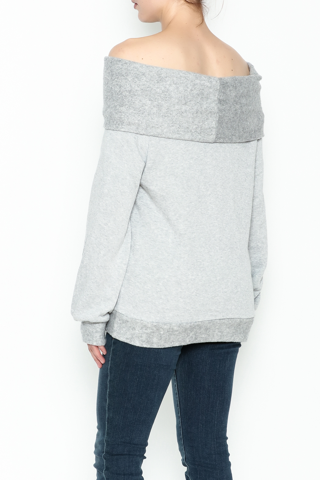 Elan Convertible Cowl Sweater - Back Cropped Image
