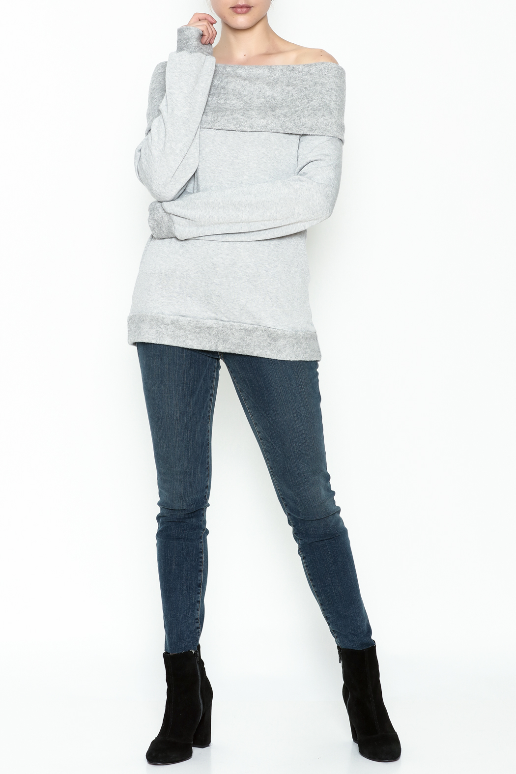 Elan Convertible Cowl Sweater - Side Cropped Image