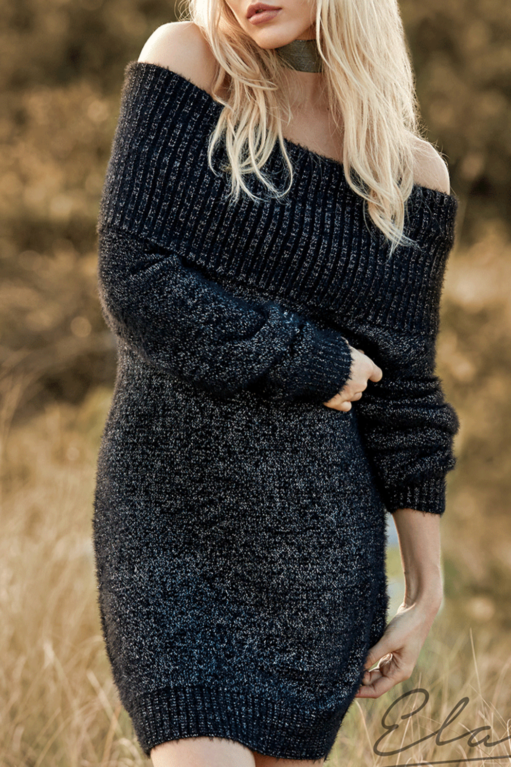 Elan Cowl Neck Sweater Dress from Colorado by Evey K Fashionliner ...