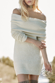 Elan Cowl Neck Sweater Dress - Front cropped