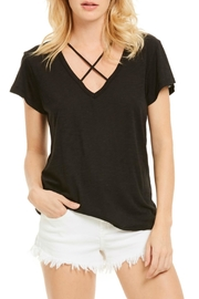 Elan Black Crisscross Top - Front cropped