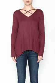 Elan Criss Cross Top - Front full body