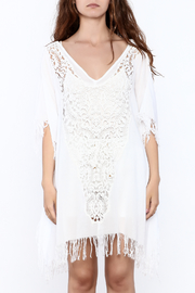 Elan White Crochet Cover Up - Side cropped
