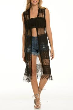 Shoptiques Product: Long Crochet Vest