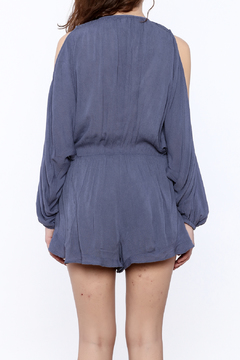 Shoptiques Product: Blue Crochet Romper