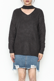 Elan Cutout Neck Sweater - Front full body