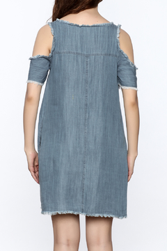 Elan Denim Cold Shoulder Dress - Alternate List Image