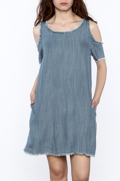 Elan Denim Cold Shoulder Dress - Product List Image