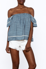 Elan Soft Denim Top - Front cropped