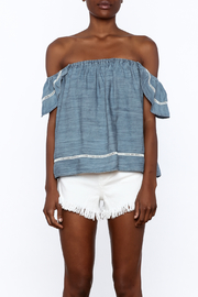 Elan Soft Denim Top - Side cropped