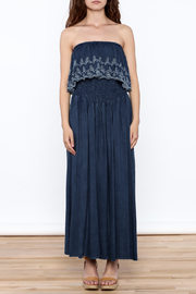 Elan Denim Maxi Dress - Front cropped