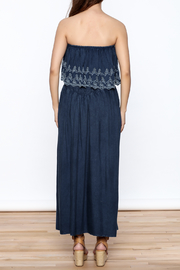 Elan Denim Maxi Dress - Back cropped