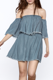 Elan Denim Ruffle Dress - Product Mini Image