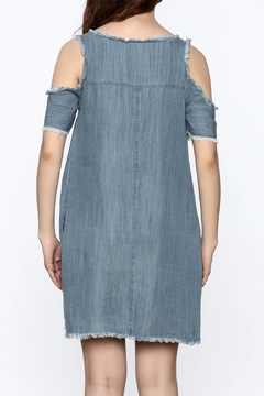 Elan Distressed Denim Dress - Alternate List Image