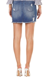 Elan Distressed Denim Skirt - Front full body