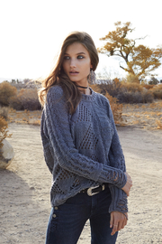 Elan Distressed Sweater - Product Mini Image