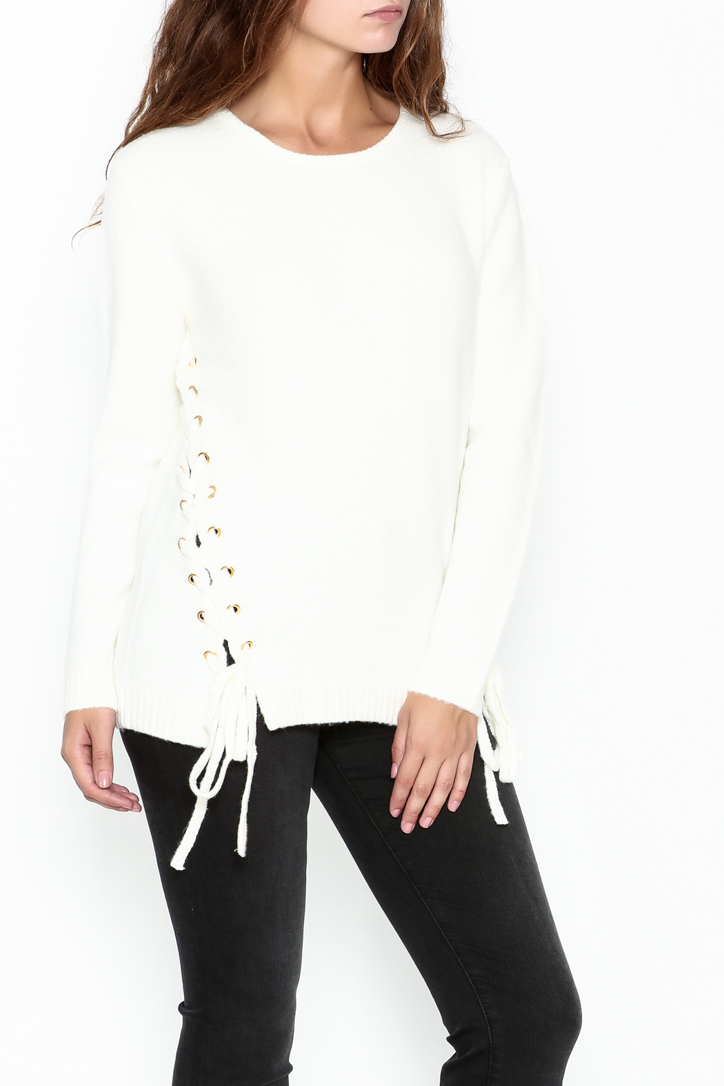 Elan Double Laceup Sweater - Main Image