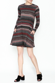 Elan Easy Stripe Shift Dress - Product Mini Image