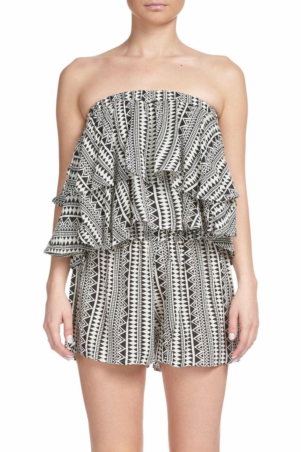 Elan Romper With Ruffle Tiers - Main Image