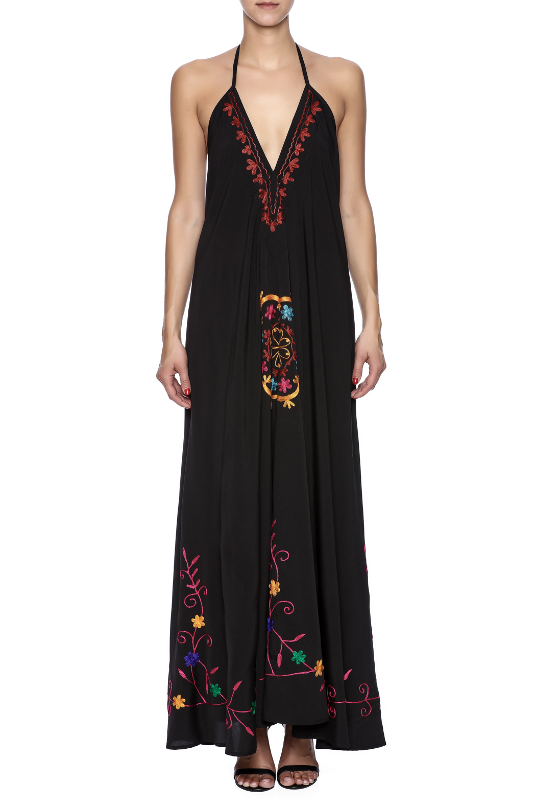 Elan Embroidered Maxi - Front Cropped Image