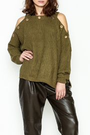 Elan Eyelet Sweater - Product Mini Image