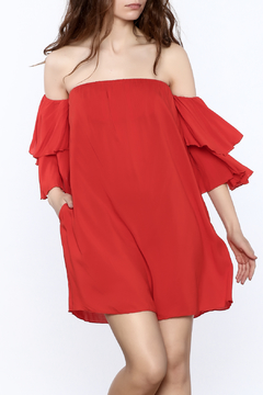 Shoptiques Product: Bright Red Swing Dress