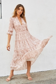 Elan Florence Maxi Dress - Front cropped