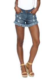 Elan Frayed Denim Shorts - Product Mini Image