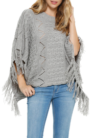 Elan Fringe Sweater Poncho - Product Mini Image