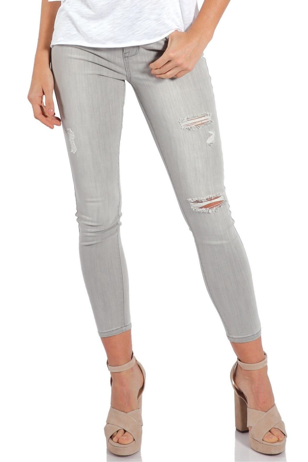 Elan Grey Distressed Denim - Main Image