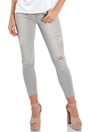 Elan Grey Distressed Denim - Front cropped