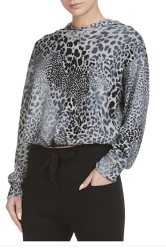 Elan Grey Leopard Pullover - Alternate List Image