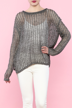 Shoptiques Product: Grey Long Sleeve Sweater